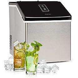Klarstein Clearcube machine à glaçons - produit de la glace, capacité de production : 13kg/24h, réfrigérant: R600a, panneau de commande avec écran tactile, boîtier robuste en inox, noir