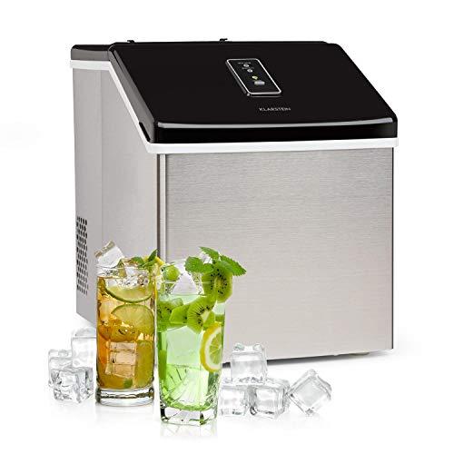 Klarstein Clearcube Eiswürfelmaschine - produziert Klareis, Produktionskapazität: 13kg/24h, Kältemittel: R600a, Bedienfeld mit Touchscreen, unempfindliches Gehäuse aus Edelstahl, schwarz