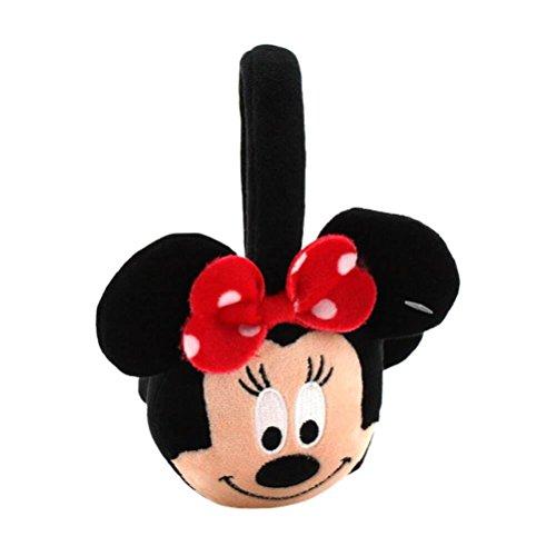 (Offizielle lizenzierte Disney Minnie Maus Charakter Rote Schleife Ohr Puffs Earmuffs)