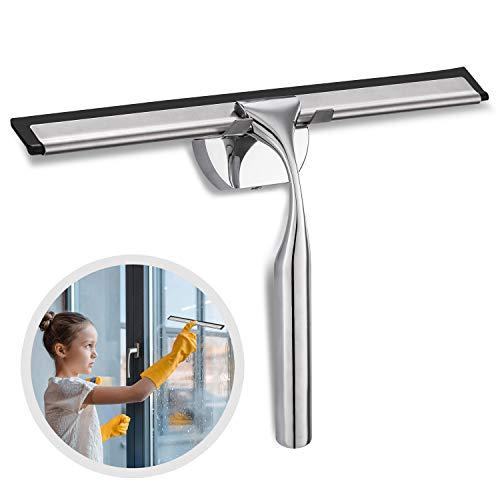 Lavavetri doccia, innislink tergicristallo per doccia lavavetri per cabina doccia in acciaio inox spatola doccia tergivetro per doccia con gancio per parete per bagno, cabina doccia e finestre