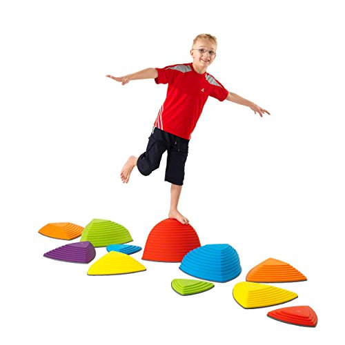 Preisvergleich Produktbild Hügelkuppen-Set, Balance Spiel, Balancierspiel, Kinder, Kindergarten, 11-tlg.