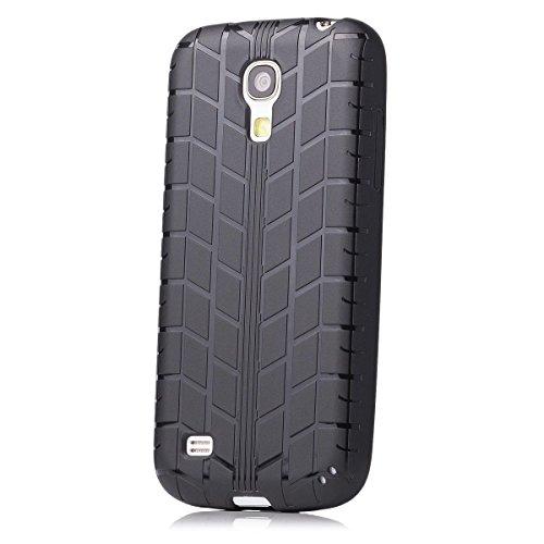 NI | iCues Reifen TPU Case Schwarz | [Display Schutzfolie Inklusive] Reifenprofil Jungs Männer Silikon Gel Schutzhülle Hülle Cover Schutz (Mini Reifen)