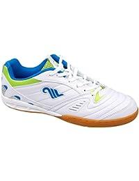 b97316f7c3999 GIBRA® Herren Sportschuhe für die Turnhalle, weiß/blau/neongrün, Gr. 41-45.  B01MSI5XIO