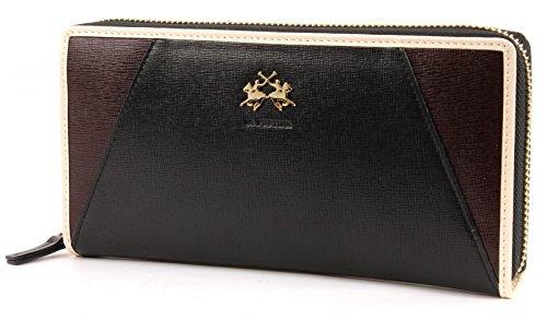 la-martina-new-rodriquez-long-size-wallet-with-zip-black-dkbrown