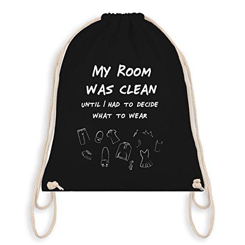 Typisch Frauen - My room was clean until - Turnbeutel I Gym Bag Schwarz