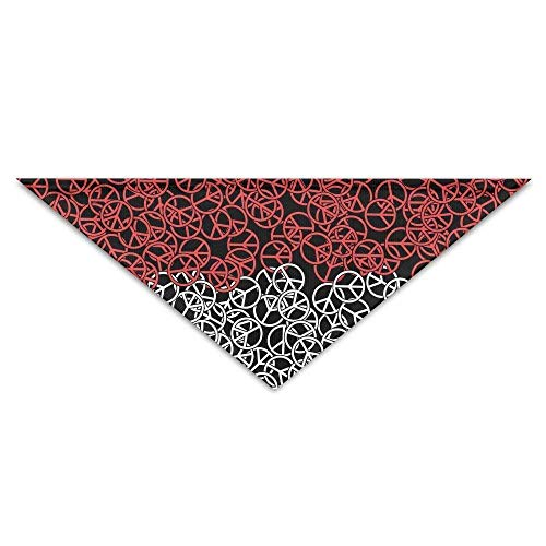 Pet Bandanas Indonesien Flagge Peace Dog Bandanas Schals Lätzchen Schals Soft Basic Dogs Halstuch ()