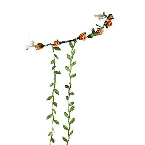 TOOGOO(R) Guirlande 12 Florale de Fete Mariage Boho Bande de Cheveux pour dame Orange