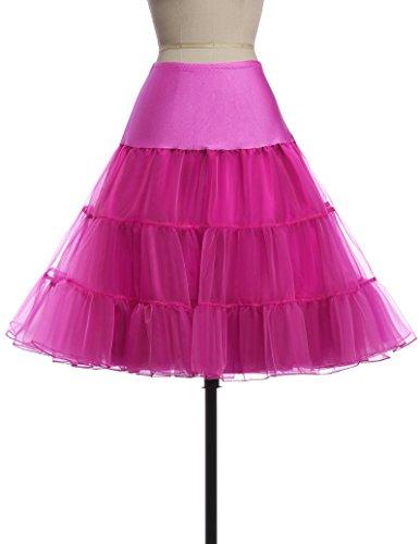 Belle Prom Dress Damen Rock Rosarot
