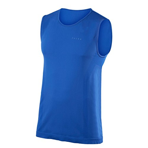 FALKE Herren Warm Singlet Comfort Unterwäsche, Athletic Blue, L (Athletic Singlet Ärmelloses Herren)