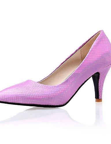 WSS 2016 Chaussures Femme-Décontracté-Violet / Rouge / Argent / Or-Talon Aiguille-Bout Pointu-Talons-Polyuréthane golden-us8 / eu39 / uk6 / cn39