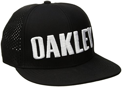 Oakley 911702-02E Cap verstellbar Herren, Blackout, fr: Einheitsgröße (Größe Hersteller: Einheitsgröße)
