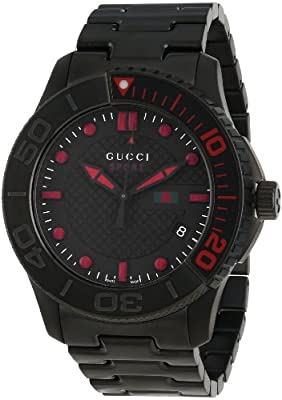 Gucci Men's Watch XL G Timeless Sport Analog Stainless Steel Coated YA126230
