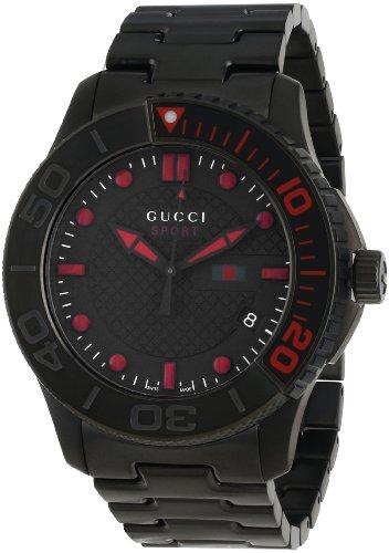 Gucci Reloj de Pulsera para Hombre XL G de Timeless Sport analógico de Acero Inoxidable Revestido ya126230