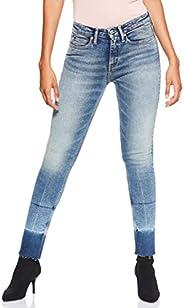 Calvin Klein Women's 8719113679-Blue Calvin Klein Jeans Skinny Jeans for Women - Lyon Blue With P
