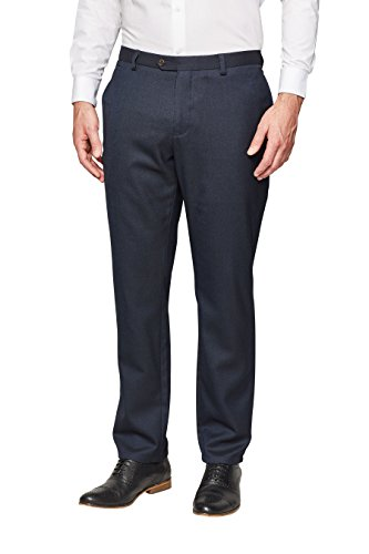 next Pantalon texturé bleu marine Standard Homme Bleu