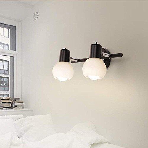 DEED Wandleuchte Korridor Gang Schlafzimmer LED Spiegel Frontleuchte Badezimmer Wand Einfache Kommode Lichtglas Schatten Dekorative Lichter,Mit 3 LED,2 Köpfe -