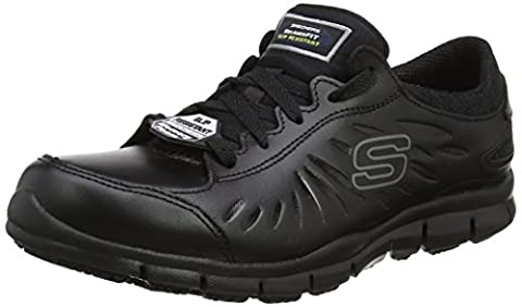 Skechers Women Eldred Safety Shoes, Black (Blk), 5 UK 38 EU