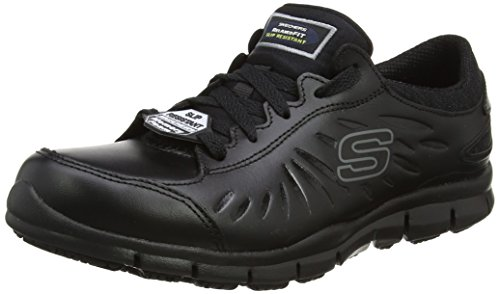 Skechers Women's Eldred Safety Shoes, Black (Blk), 6.5 UK 39 1/2 EU