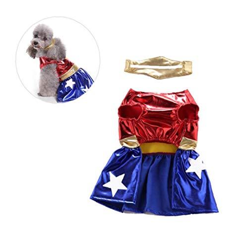 Pet Cosplay Feste Kleidung Hemd Kostüme Welpen Lustige Kleidung Halloween Weihnachten Für Hunde (Halloween-kostüm Menschen Sieben)