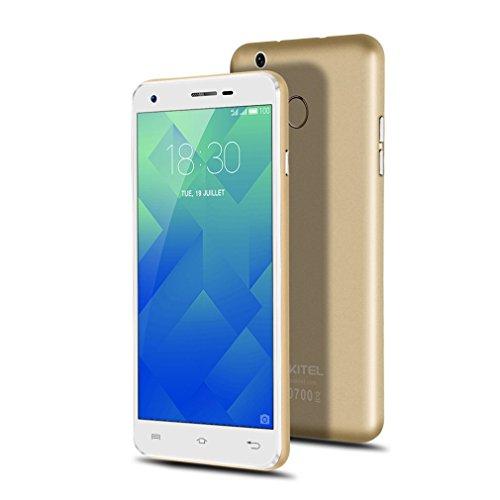 "OUKITEL U7 Plus 4G Smartphone Android 6.0 OS 5.5\"" Zoll HD Screen MT6737 Quad Core 2GB RAM + 16GB ROM, Dual Kamera, Dual SIM Dual Standby Fingerabdruck mit Intelligente Geste (Champagner Gold)"