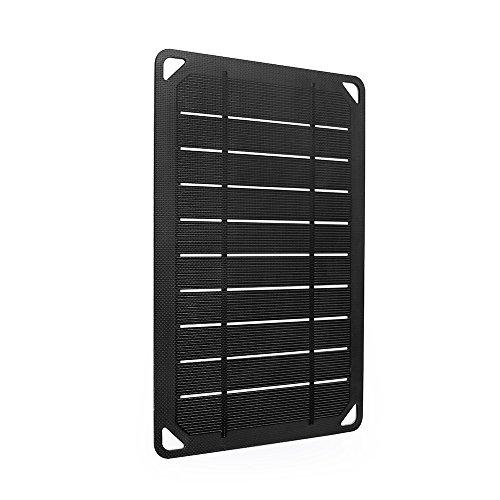Renogy 12V Solarmodul 5W Solarpanel Solarzelle Monokristallin Photovoltaik Solarmodul tragbar für Camping,Klettern,USB Aufladen,Schwarz