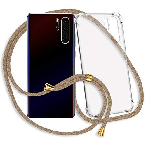 mtb more energy® Handykette für Samsung Galaxy S9 (SM-G960, 5.8'') | beige-Gold | Smartphone Hülle zum Umhängen | Anti Shock Strong TPU Case