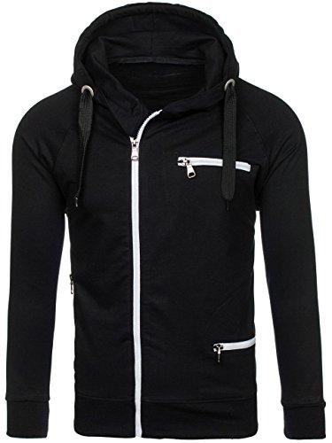 BOLF Herren Sweatjacke Kapuzenpullover Sweatshirt Hoodie Mix 1A1 Langarmshirt