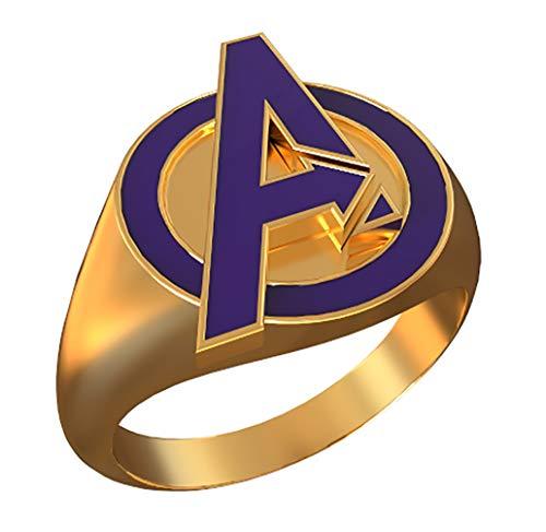 Nexthops Avengers Ring Thanos Ring Golden aus Legierung Eine Größe Cosplay Schmuck (Disney Infinity Marvel Kostüme)