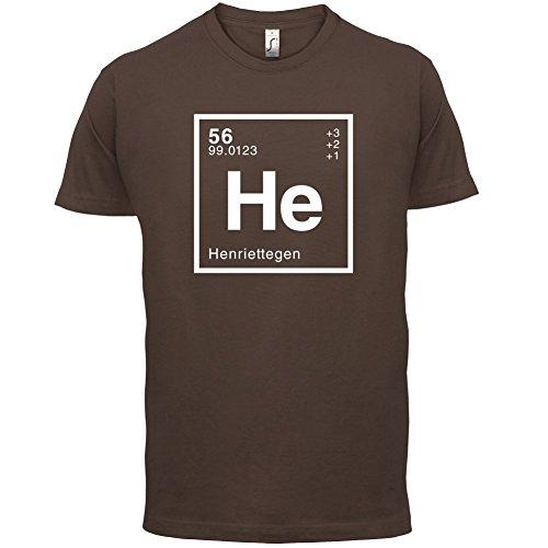 Henriette Periodensystem - Herren T-Shirt - 13 Farben Schokobraun