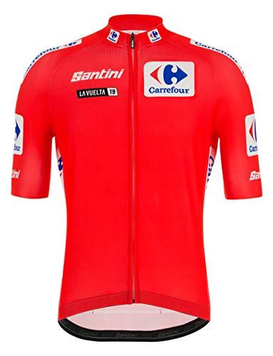 Santini La Vuelta 2019 - Camiseta de Manga Corta para Hombre, Hombre, RE9427519LV, Rojo, M