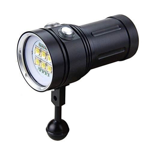 Arvin87Lyly Tauchen Taschenlampe, Tragbar Unterwasser Fotografie LED Beleuchtung, 12000 Lumen 100m Wasserdicht Tauchen licht