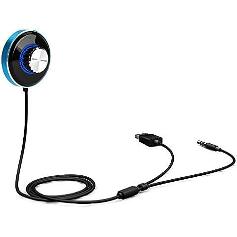 Transmisor de coche Bluetooth, Yokkao® Bluetooth Para el Coche 4.0 con Manos Libres, Reproductor de Música, Cable Jack 3,5mm, 2 puertos USB para iPhone/ Samsung/ Huawei/Xiaomi/Sony xperia y otros