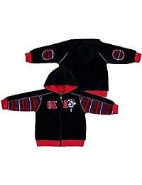 Negro terciopelo sudadera con capucha para niños Boy sudadera con capucha 9468
