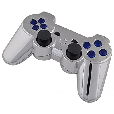 Playstation 3 Controller - Chrome with Blue Buttons - Official Sony Dualshock 3