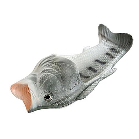 OHQ Lustige Strand Schuhe tragen Fische Tier Hausschuhe Sommer Strand Sandalen Dusche Hausschuhe Anti-Rutsch für Frauen Männer Kid (35, Silber)