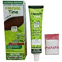 Herbal time, crema colorante con henna sin amoniaco, color castaño 5