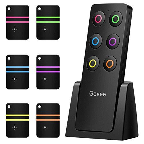 Govee Schlüsselfinder Wireless Key Finder mit 6 Empfängern RF Item Locator, Item Tracker Support Fernbedienung, Haustier Tracker, Wallet Tracker, Gute Idee für Ihre verlorenen Gegenstände Car Remote Key Mini