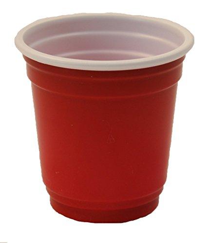 Mini 2Oz Kunststoff Trinken, Shot, Pong, Verkostung Tassen (40CT) rot (Rote Tassen Trinken)