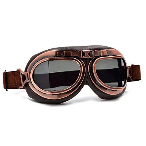 Depruies Retro Nostalgie Style Brille Outdoor Sport Brille Skibrille Maske Harley Goggle Maske Motorrad Reitbrille Maske Smoke