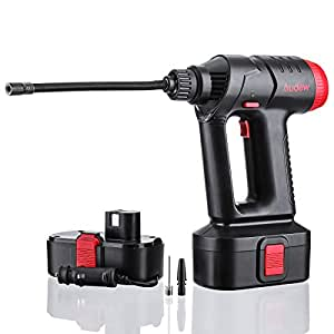 Audew Cordless Air Compressor, Portable Tire Inflator, Hand Held Air Pump with Digital LCD Rechargeable Li-ion 12V 100PS
