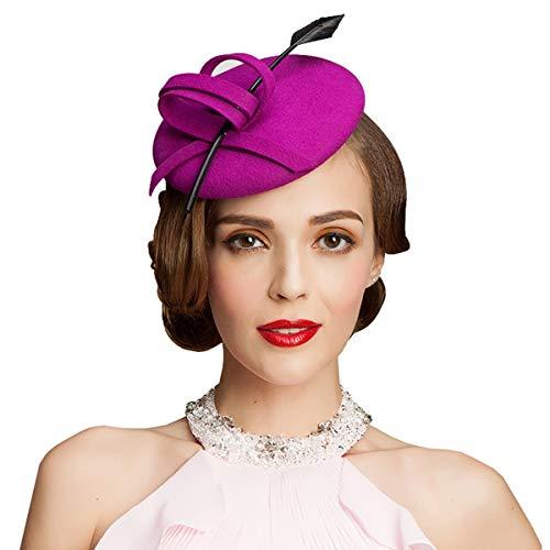 Nosterappou Chapeau élégant et Exquis, Chapeau de Banquet, côté féminin Portant Un Chapeau de Banquet, Chapeau élégant pour Dames