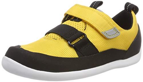 Clarks Jungen Play Pioneer K Sneaker, Gelb (Yellow Synthetic), 33.5 EU -