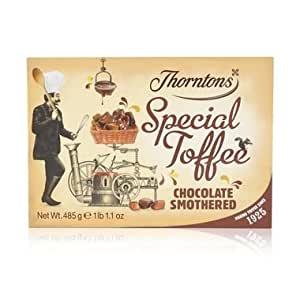 Thorntons Chocolate Smothered Toffee Box 485g