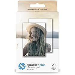 HP ZINK S2 Papier Photo (20 feuilles, 5,8 x 8,7 cm, dos autocollant) pour Sprocket Plus