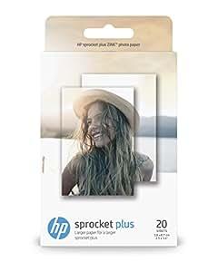 HP ZINK Fotopapier (20 Blatt, 5.8 x 8.7 cm, selbstklebende Rückseite) für HP Sprocket Plus