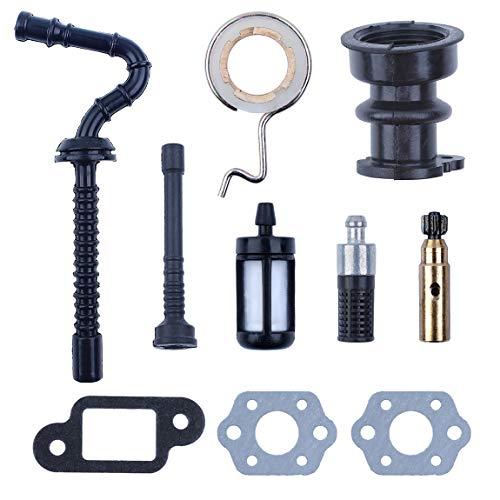 Haishine Ansaugkrümmermanschette Ölpumpe Schneckengetriebe Heizölschlauch-Filtersatz für STIHL 025 023 021 MS250 MS230 MS210 Kettensägen-Teile