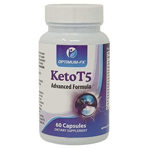 Keto T5 Apoyo a la Dieta Cetogénica Avanzada - Quemador de Grasa - Energético Antes del Entrenamiento - Píldoras Adelgazantes - Pérdida de Peso - Quemagrasa 60 Cápsulas Veganas Suministro para 30 Días