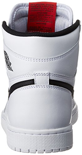 Nike Herren Air Jordan 1 Retro High Og Basketballschuhe Blanco (White / Black-White)