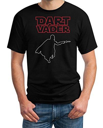Dart Vader - Witziges Herren Dart Shirt für Darts Fans T-Shirt Schwarz
