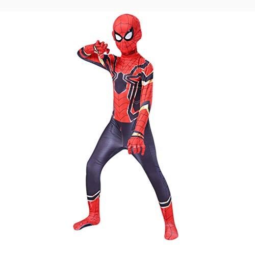 YUNMO Spiderman Kleidung Kinder Junge Helden Rückkehr Erwachsene Cosplay Anzüge Metall Spider Man Strumpfhosen (größe : L)